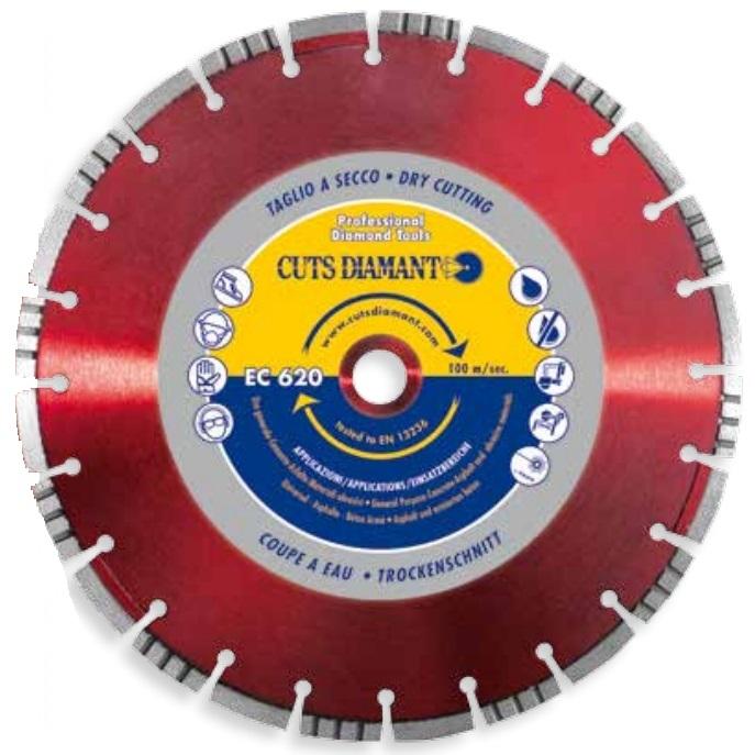 Алмазный отрезной круг ЕC620 350x25,4 Н 10 универсалный » ec620