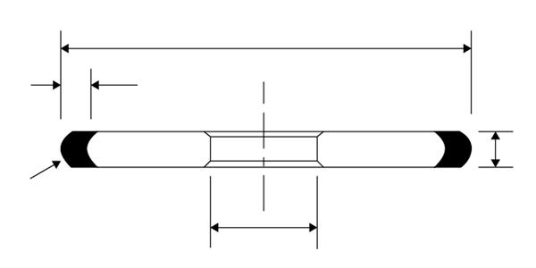 Круг алмазный 1FF1 125x5x4x2,5x32 AC4125/100 B2-01 » Abrasive Tools г. Харьков