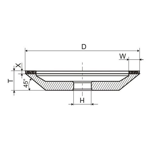 Круг алмазный 12А2-45 150х20х5х40х32 АС4 160/125 » Abrasive Tools г. Харьков